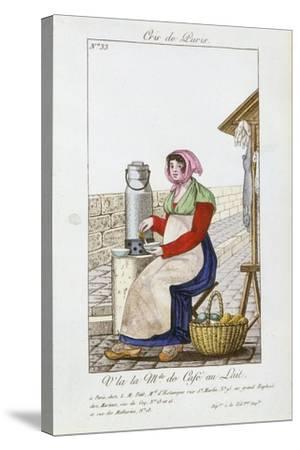 Café-Au-Lait Seller, 1826--Stretched Canvas Print