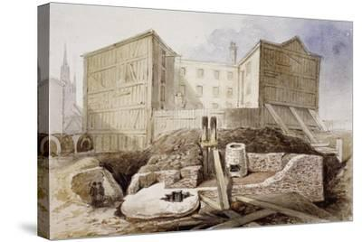 Roman Ruins at the Coal Exchange, London, 1848--Stretched Canvas Print