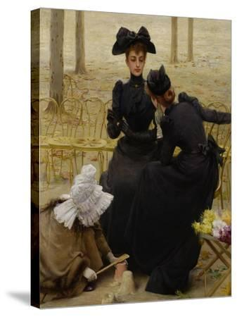 Conversation in the Jardin Du Luxembourg, 1892--Stretched Canvas Print