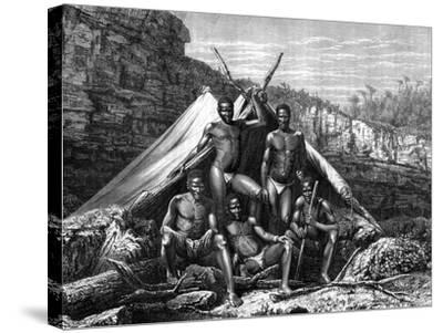 Bassoutos, South Africa, 19th Century- St de Dree-Stretched Canvas Print