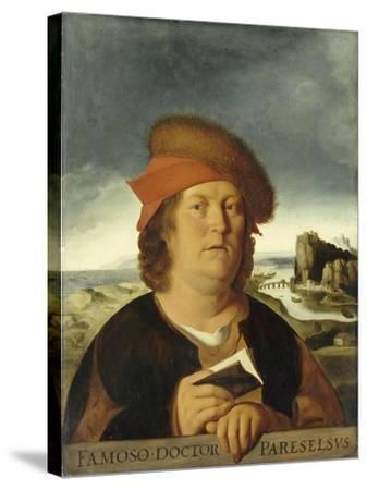 Portrait of Paracelsus-Quentin Massys-Stretched Canvas Print
