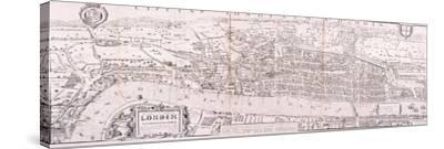 Map of London, C1560--Stretched Canvas Print