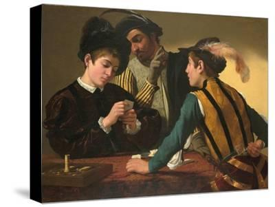 The Cardsharps-Caravaggio-Stretched Canvas Print