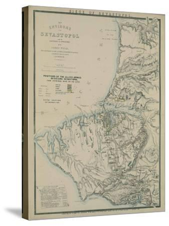 Map of the Environs of Sevastopol, 1854-James Wyld-Stretched Canvas Print