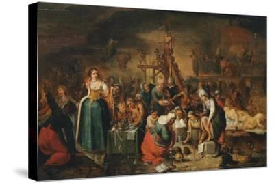 The Witches' Kitchen, Early 17th C-Frans Francken the Younger-Stretched Canvas Print