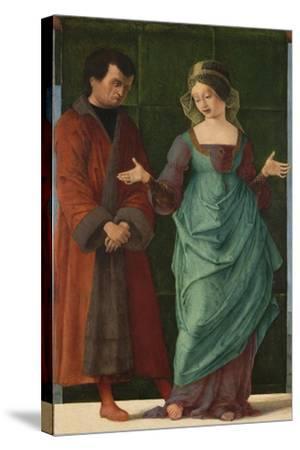 Portia and Brutus-Ercole de' Roberti-Stretched Canvas Print