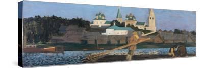On the Volga, 1906-Boris Michaylovich Kustodiev-Stretched Canvas Print