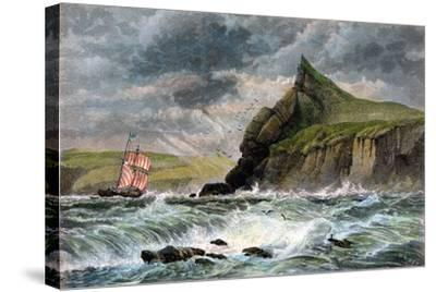 The Entrance to Fowey Harbour, Cornwall, 19th Century--Stretched Canvas Print