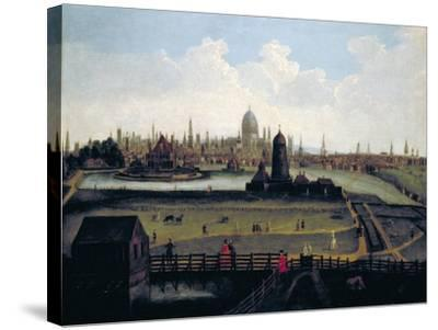 Prospect of the City from the North, London, C1730--Stretched Canvas Print