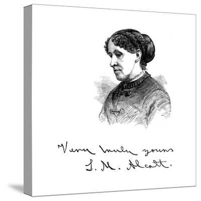 Louisa May Alcott (1832-188), American Writer, 1875--Stretched Canvas Print