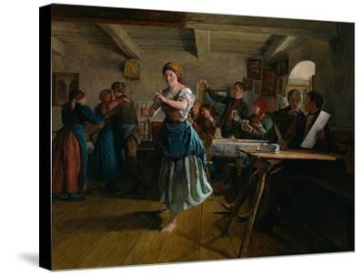 The Opening Dance, 1863-Ferdinand Georg Waldm?ller-Stretched Canvas Print