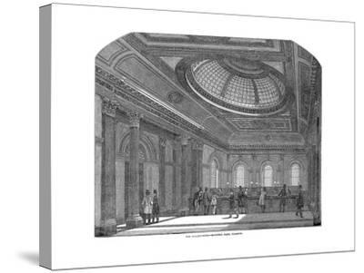 Telling Room, National Bank of Scotland, Glasgow, C1860--Stretched Canvas Print
