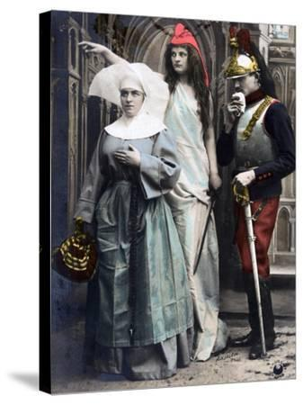 France !!! Quo Vadis?, French WWI Postcard, 1914-1918--Stretched Canvas Print