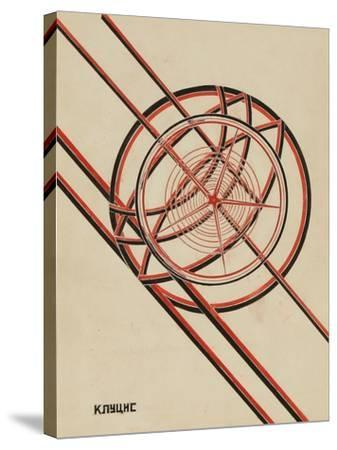 World October-Gustav Klutsis-Stretched Canvas Print