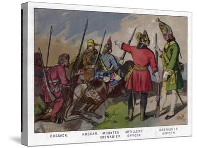 Russian Soldiers of 1760 (19th Centru)--Stretched Canvas Print