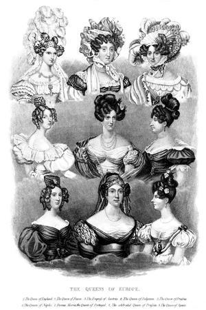 The Queens of Europe, 19th Century--Stretched Canvas Print