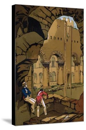 Rochester Castle, Kent, 19th Century--Stretched Canvas Print