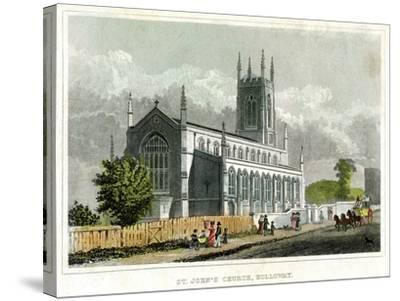 St John's Church, Holloway, Islington, London--Stretched Canvas Print