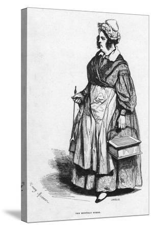 The Monthly Nurse, 19th Century- Lavieille-Stretched Canvas Print