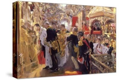 The Coronation of Emperor Nicholas II in the Assumption Cathedral, 1896-Valentin Serov-Stretched Canvas Print