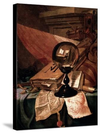 Vanitas, 17th Century-Vincent Laurentz van der Vinne-Stretched Canvas Print