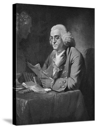 Benjamin Franklin, C1766-David Martin-Stretched Canvas Print