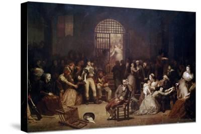The Call for the Last Victims of the Terror, 7-9 Thermidor, Year 2-Charles Louis Lucien Muller-Stretched Canvas Print