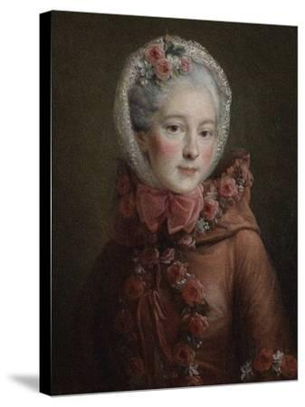 Portrait of Princess Natalya Petrovna Galitzine (1741-183), 1760-Fran?ois-Hubert Drouais-Stretched Canvas Print