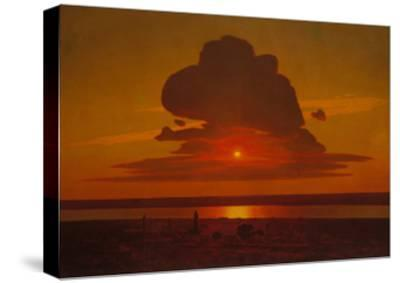 Red Sunset on the Dnieper, 1905-1908-Arkhip Ivanovich Kuindzhi-Stretched Canvas Print
