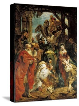 The Adoration of the Magi, 1624-Peter Paul Rubens-Stretched Canvas Print
