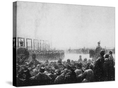 The Execution of the Terrorists in Russia, 1884-1885-Vasili Vasilyevich Vereshchagin-Stretched Canvas Print