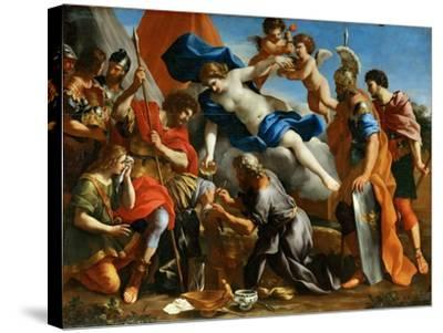 Venus Pouring a Balm on the Wound of Aeneas-Giovanni Francesco Romanelli-Stretched Canvas Print