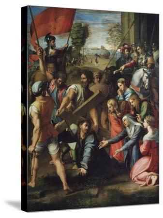 Christ Carrying the Cross-Raphael-Stretched Canvas Print