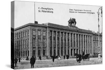 The German Embassy in Petersburg--Stretched Canvas Print