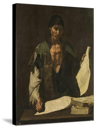 Archimedes-Jos? de Ribera-Stretched Canvas Print