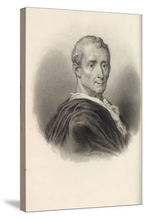 Charles De Secondat, Baron De Montesquieu (1689-175)--Stretched Canvas Print
