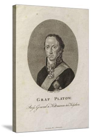Portrait of Count Matvei Ivanovich Platov (1757-181)-Karl Friedrich Schulz-Stretched Canvas Print