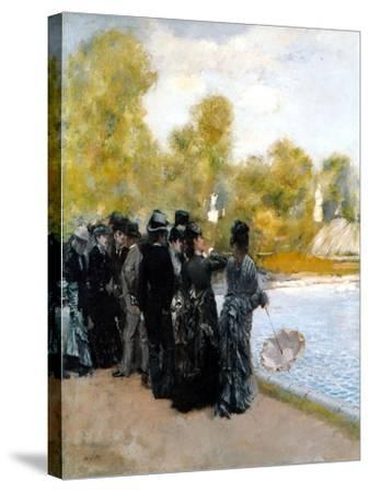 The Pool in the Jardin Du Luxembourg-Giuseppe De Nittis-Stretched Canvas Print
