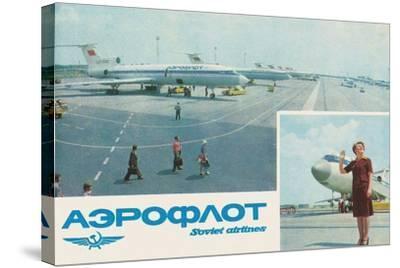 Aeroflot--Stretched Canvas Print