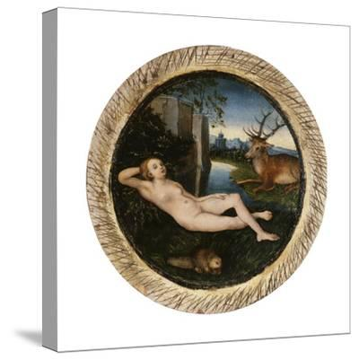 The Nymph of the Spring-Lucas Cranach the Elder-Stretched Canvas Print