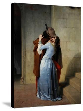 The Kiss-Francesco Hayez-Stretched Canvas Print