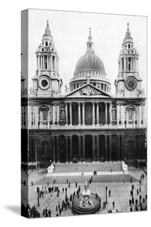 St Paul's Cathedral, London, Early 20th Century--Stretched Canvas Print