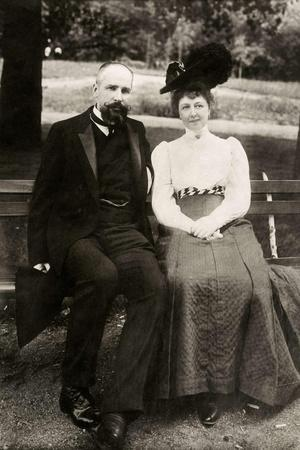 Portrait of the Prime Minister of Imperial Russia Pyotr Stolypin with His Wife, 1910--Stretched Canvas Print