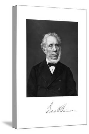 Edward Baines, English Newspaper-Proprietor and Politician--Stretched Canvas Print