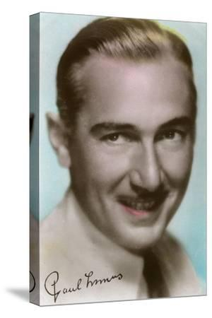Paul Lukas (1895-197), Hungarian Actor, C1930S--Stretched Canvas Print