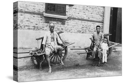 Men with Wheelbarrows, Vietnam, 20th Century--Stretched Canvas Print