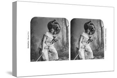 Portrait of a Costumed Woman, Early 20th Century- Aristophot-Stretched Canvas Print