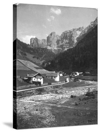 A Valley in Wolkenstein, Tyrol, C1900s-Wurthle & Sons-Stretched Canvas Print