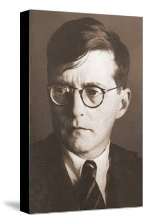 Portrait of the Composer Dmitri Shostakovich (1906-197), 1930S--Stretched Canvas Print