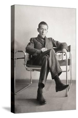 Marcel Breuer in the Wassily Chair, 1926--Stretched Canvas Print